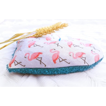Bouillotte sèche flamant rose - artisanal made in France